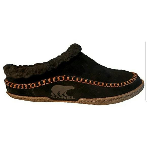 c89a21f8059 SOREL Falcon Ridge Black Nutmeg Slippers Men s 10